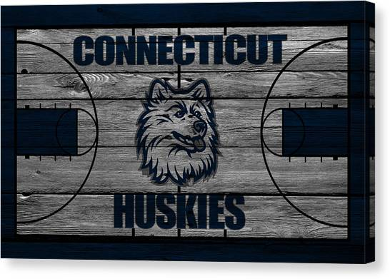 Huskies Canvas Print - Connecticut Huskies by Joe Hamilton