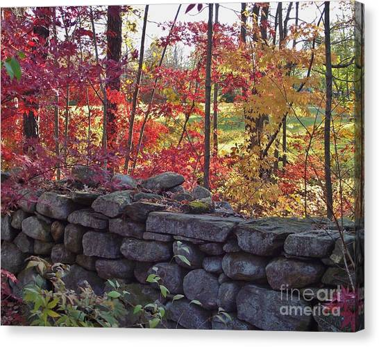 Connecticut Stone Walls Canvas Print