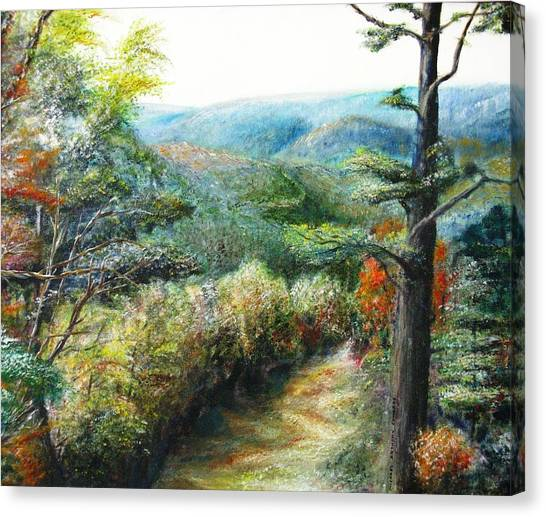 Connecticut Trail Canvas Print by Michael Anthony Edwards