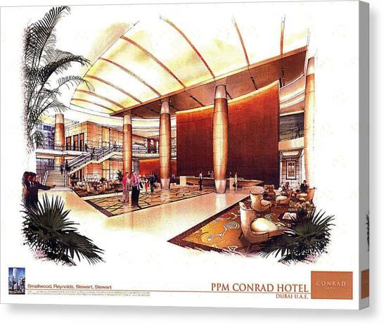 Conrad Hotel Dubai Canvas Print by Jack Adams
