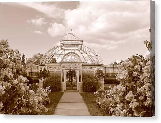 Conservatory- Sepia Canvas Print