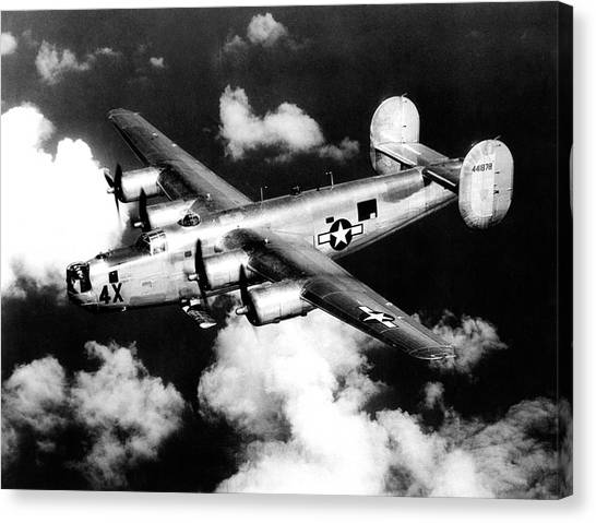 Eagle In Flight Canvas Print - Consolidated B-24 Liberator Heavy Bomber by Nara/science Photo Library