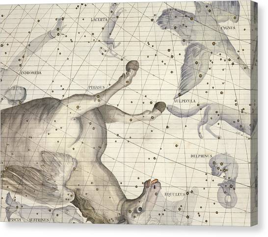 Pegasus Canvas Print - Constellation Of Pegasus by Sir James Thornhill