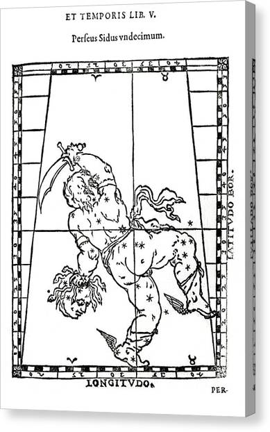 Gorgons Canvas Print - Constellation Of Perseus by Royal Astronomical Society/science Photo Library
