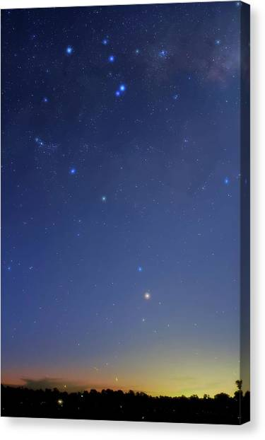 Delta Sigma Theta Canvas Print - Constellation Of Scorpius by Luis Argerich