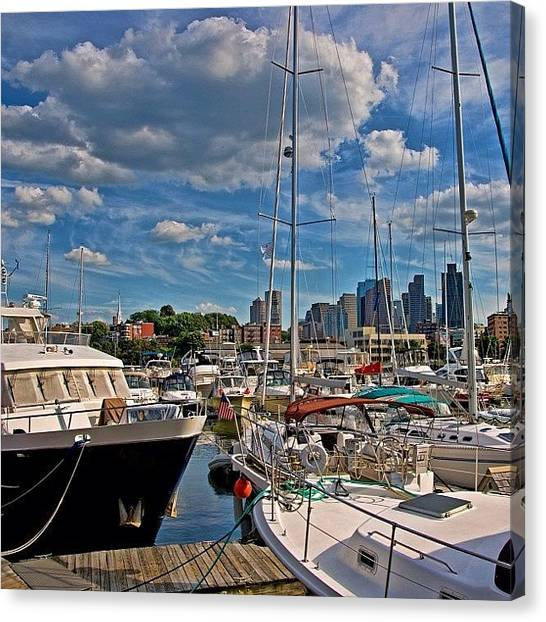 Massachusetts Canvas Print - Constitution Marina.... Boston #boston by Joann Vitali