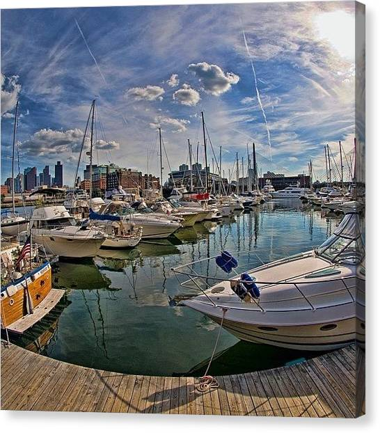 Massachusetts Canvas Print - #constitutionmarina #boston by Joann Vitali