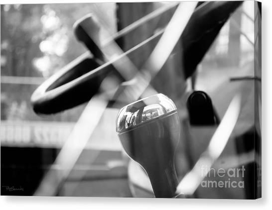Backhoes Canvas Print - Construction 02 - Shatterproof Dreams - Jcb Cab Bokeh by Pete Edmunds