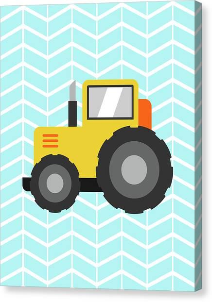 Dump Trucks Canvas Print - Construction Truck I by Tamara Robinson
