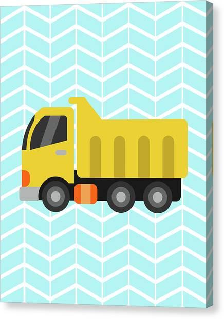 Dump Trucks Canvas Print - Construction Truck II by Tamara Robinson