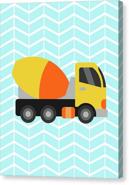 Dump Trucks Canvas Print - Construction Truck IIi by Tamara Robinson
