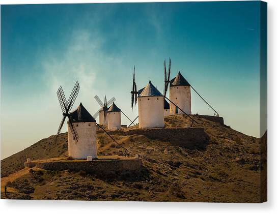 Energy Canvas Print - Consuegra by J. Antonio Pardo