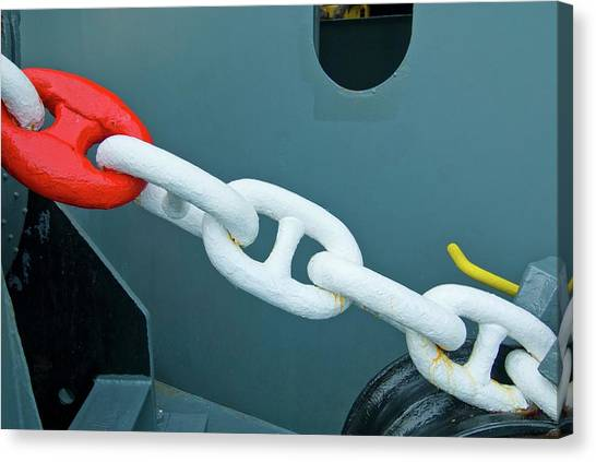 Chain Link Canvas Print - Container Ship Chain by Chris Sattlberger/science Photo Library