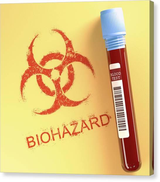 Biohazard Canvas Print - Contaminated Blood by Ktsdesign