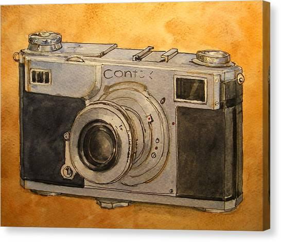 Analog Canvas Print - Contax II by Juan  Bosco