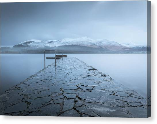 Pier Canvas Print - Contemplate by David Ahern