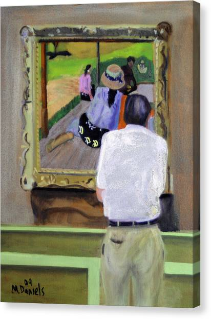 Contemplating Gauguin Canvas Print