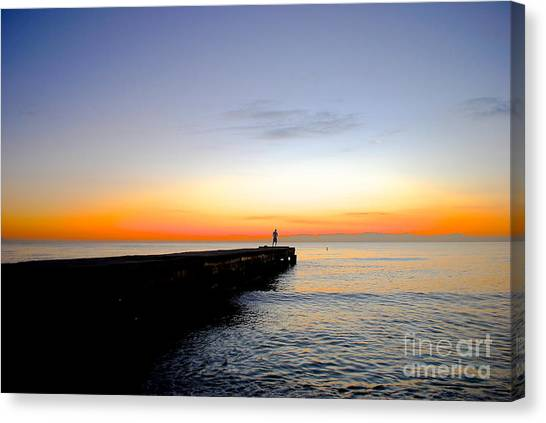 Contemplating The Meaning Of Life Canvas Print