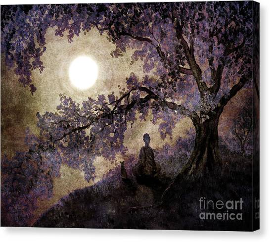 Siamese Canvas Print - Contemplation Beneath The Boughs by Laura Iverson