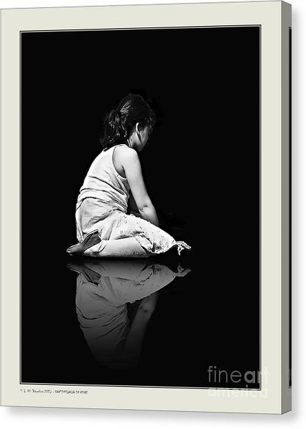 Contemplation In Dark Canvas Print