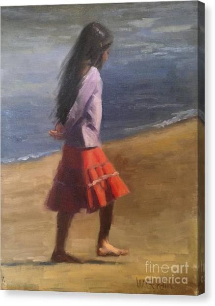 Contemplation Canvas Print by Wendy Gordin