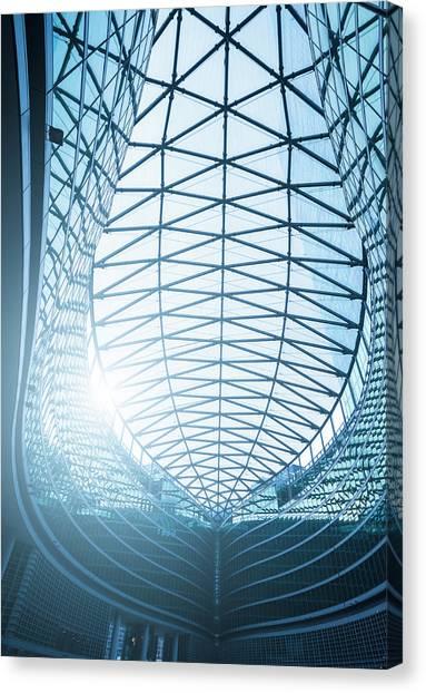 Contemporary Architecture In Milan Canvas Print by Cirano83