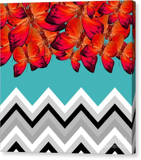 Butterflies Canvas Print - Contemporary Design by Mark Ashkenazi
