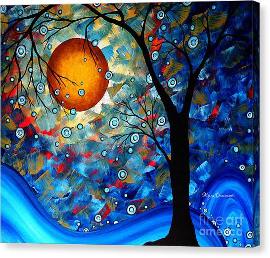 Canvas Print - Contemporary Modern Art Original Abstract Landscape Painting Blue Essence By Megan Duncanson by Megan Duncanson