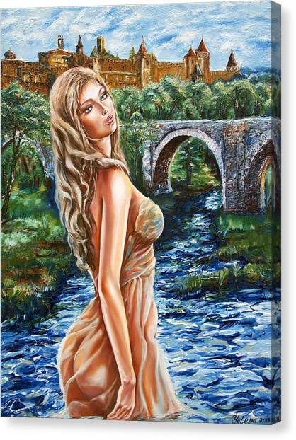Contessa De Carcassonne Canvas Print