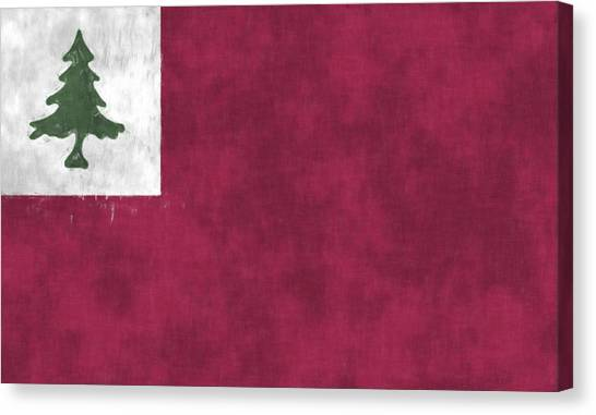 New England Revolution Canvas Print - Continental Flag by World Art Prints And Designs