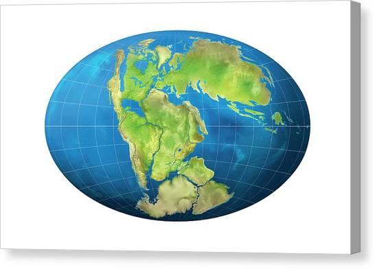 Antarctica Canvas Print - Continents 150 Million Years Ago by Claus Lunau