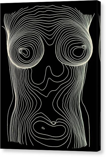 Contour Canvas Print - Contour Map Of Female Chest & Abdomen by Dr Robin Williams/science Photo Library