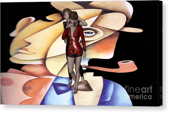 Contradictory Complementarity Of Humans2 Canvas Print