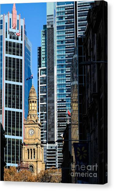 Contrasting Architectures - Old And Modern Canvas Print