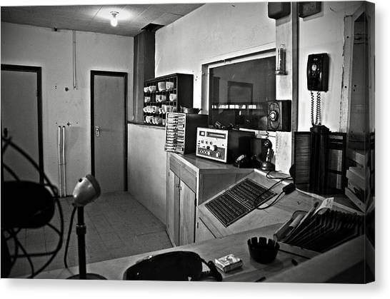 Control Room In Alcatraz Prison Canvas Print