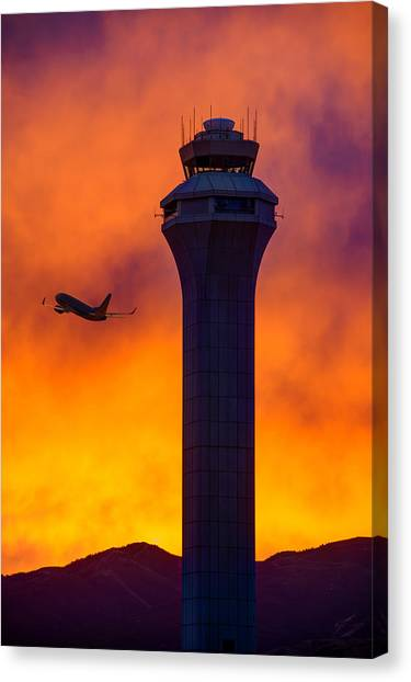 Air Traffic Control Canvas Print - Control Tower by Dustin  LeFevre