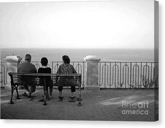 Conversations By The Sea Canvas Print