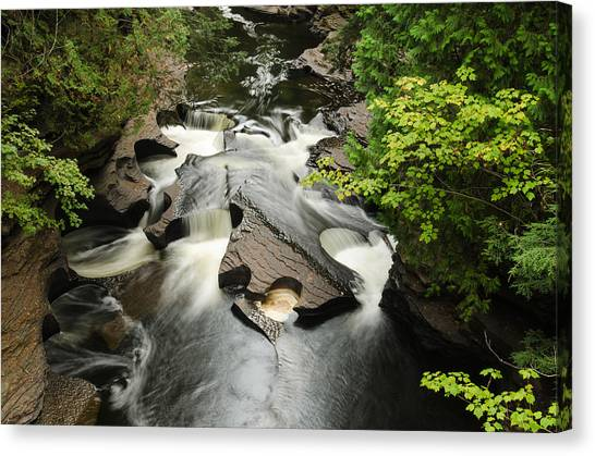 Cookie Cutter Falls Canvas Print by Thomas Pettengill