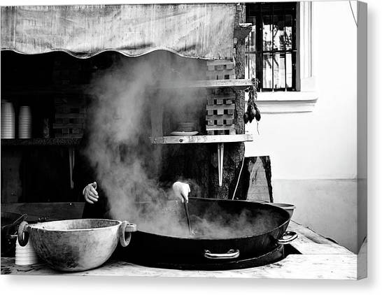 Cooking Canvas Print - Cooking Food by E.amer
