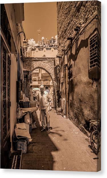 Cooking On The Streets Of Marrakech Canvas Print