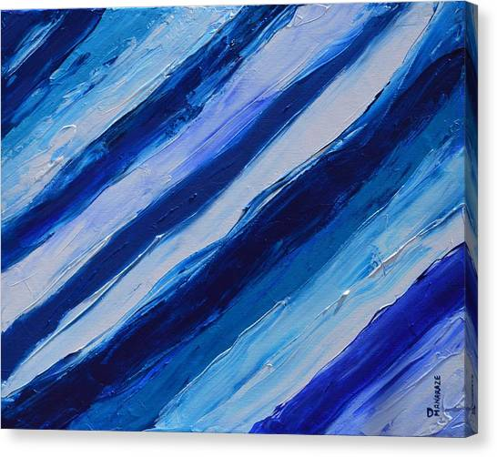 Cool Azul Canvas Print