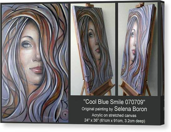 Cool Blue Smile 070709 Comp Canvas Print