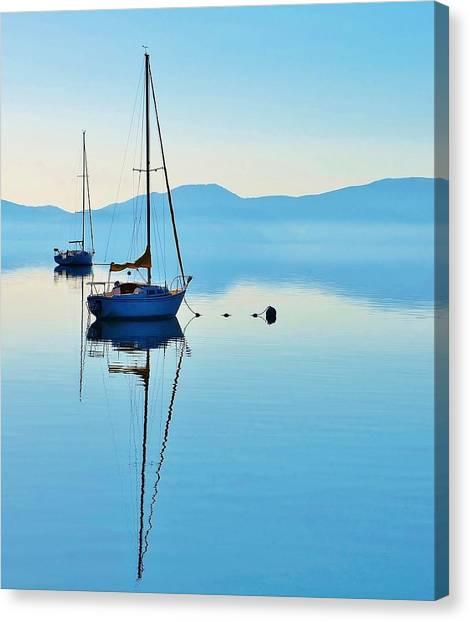 Cool Blue Tahoe Sail Canvas Print