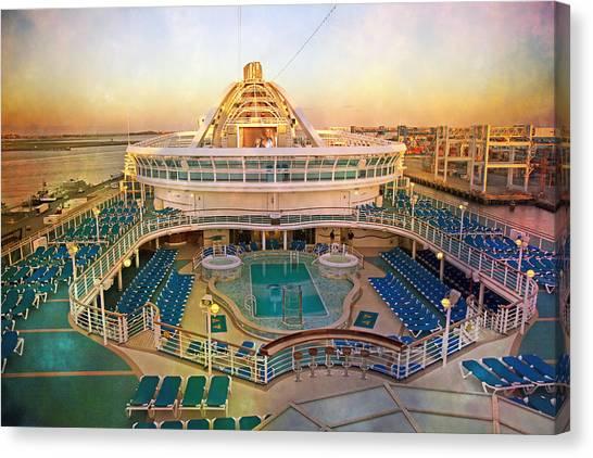 Cruise Ships Canvas Print - Cool Caribbean Princess by Betsy Knapp