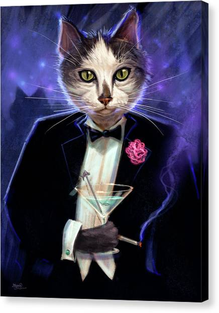 Tuxedo Canvas Print - Cool Cat by Jeff Haynie