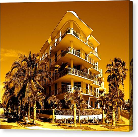 Cool Iron Building In Miami Canvas Print
