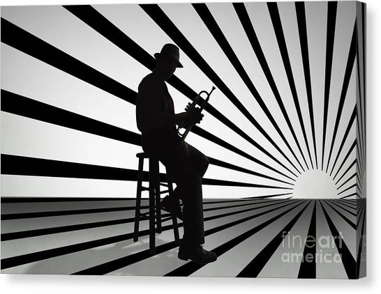 Trumpets Canvas Print - Cool Jazz 2 by Peter Awax