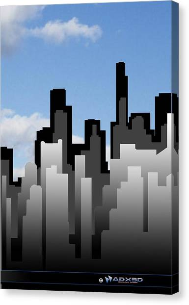 Cool Jazz City  Canvas Print