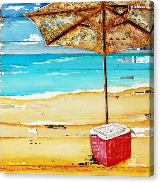 Whimsical Beach Art Canvas Print - Cool Off by Danny Phillips