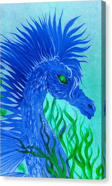 Cool Sea Horse Canvas Print